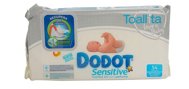 Dodot sensitive 54 toallitas