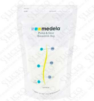 BOLSAS PARA LECHE MATERNA 0 BPA PUMP and SAVE 20 UNIDADES
