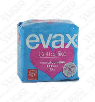 COMPRESAS TOCOLOGICAS EVAX COTTONLIKE NORMAL CON ALAS