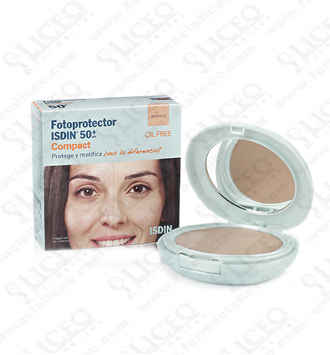 dd431bc34 FOTOPROTECTOR ISDIN COMPACT SPF-50 MAQUILLAJE COMPACTO COLOR BRONCE ...