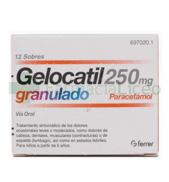 GELOCATIL 250 MG 12 SOBRES GRANULADO
