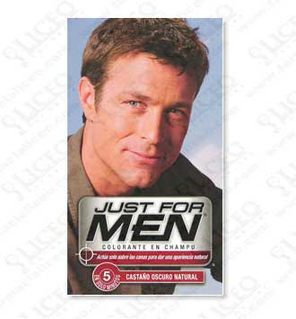JUST FOR MEN CHAMPU COLORANTE 30 ML CASTAÑO OSCURO