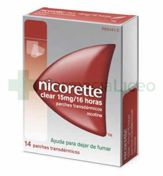 NICORETTE CLEAR 10 MG/16 H 14 PARCHES TRANSDERMI