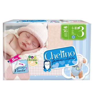 PAÑAL INFANTIL CHELINO FASHION and LOVE T- 3 (4 - 10 KG) 36 PAÑALES