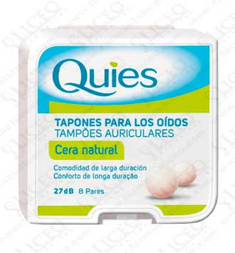 QUIES TAPONES OIDOS CERA NATURAL 16 UNIDADES